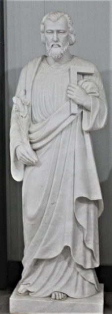 """Hand Carved Marble Statue """"St. Joseph"""""""