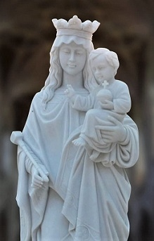 """Church Marble Statues """"Blessed Mother"""""""