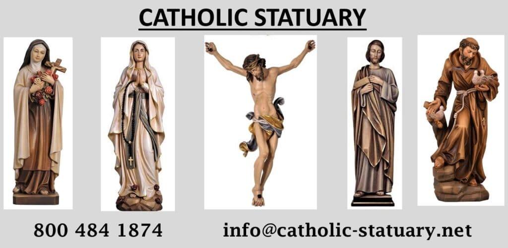 religious figures, religious statues, church statues