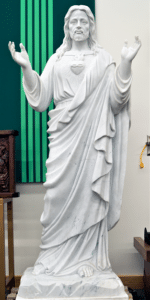 Sacred Heart Marble Religious Statue