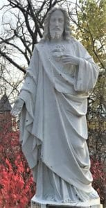 111 Sacred Heart religious statue in marble