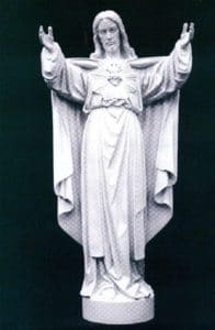Sacred Heart religious statue. Marble religious sculpture