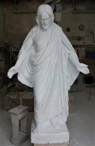 relgious sculpture in marble. Jesus Christ religous sculpture