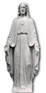 sacred heart religous statue. marble religious sculpture
