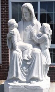 Christ with Children marble statue  marble statues  marble sculptures  marble religious statues  Christ marble staute