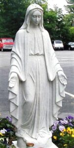our lady of grace religious statue.|our lady of grace religious sculpture| Our Lady of Grace statue| marble statue| marble sculpture| religious statue