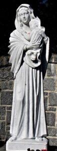 madonna della strada religious statue| madonna della strada religious sculpture| marble statue| marble sculpture| marble religious statue