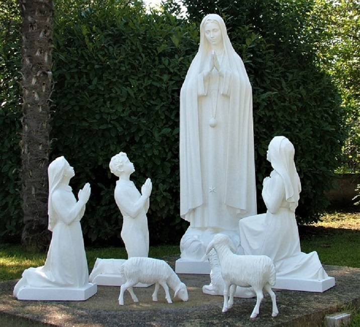our lady of fatima group| marble statues| marble sculptures| Our Lady of Fatima| religious statues