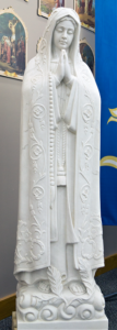 our lady of fatima religious statue.}our lady of fatima religious sculpture| marble statue| marble sculpture| religious statue