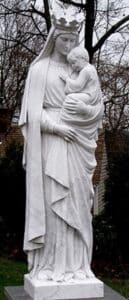 Blessed Mother Statue, Madonna and child statue, Madonna marble statue