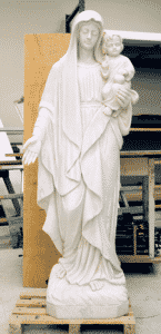 Madonna and Chiild religious statue| marble religious sculpture| marble religious staute