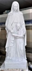 marble religious statues, marble sculptures, st.ann with mary marble