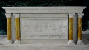 altars, marble altars, sanctuary furniture, marble furniture