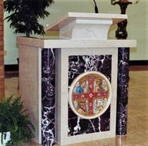 pulpit, ambo, marble pulpit, marble ambo