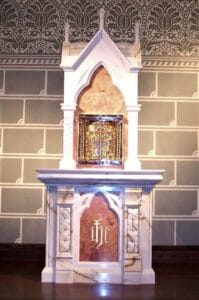 tabernacle stand, marble tabernacle stand
