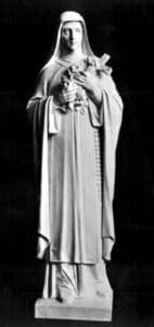 st theresa statue, marble statue, religious statue