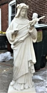 st catherine of siena statue, marble statue, religious statue