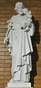 st. joseph statue, st. joseph with child statue, religious statues, marble statues