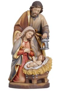 holy family statue, holy family wood carving, religious statues