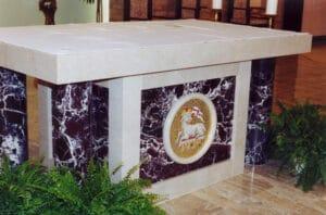altar furniture, marble altar, marble sanctuary furniture