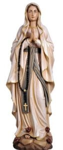 our lady of lourdes, our lady of lourdes statues, wood carved statues