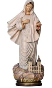 religious figures, religious statues, our lady of medjagorie,