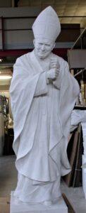 religious figures, religious statues, John Paul 2, marble statues
