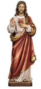 religious statue, wood statues, church statues, Sacred Heart