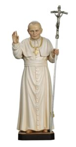 religious statues, wood carved statues, church statues, St John Paul 2