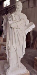 st. paul statue, st. paul religious statue, marble religious statues