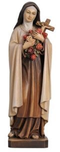 st theresa, st theresa statue, wood carved statues