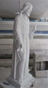st. francis statue, st. francis of assisi statue, religious statue, marble statue