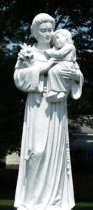 religious figures, religious statues, st. anthony, marble statues
