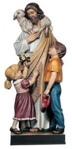 religious figures, religious statues, good shepherd statue