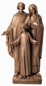 religious figures, religious statues, holy family, holy family statue