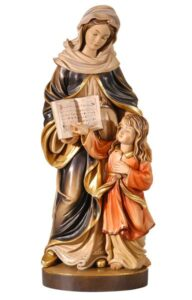 religious figures, religious statues, st anne with mary statue
