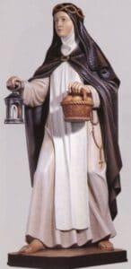 religious figures, religious statues, st catherine of siena statue