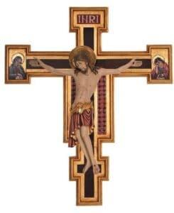 religious figures, religious statues, wood carved statues, Cimbaue crucifix