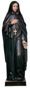 religious figures, religious statues, st francis cabrini statue