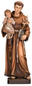 religious figures, religious statues, St Anthony, St Anthony statue
