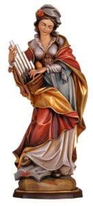 religious figures, religious statues, st cecilia statue