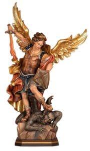 religious figures, religious statues, st michael statue