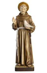 religious figures, religious statues, st francis of assisi statue