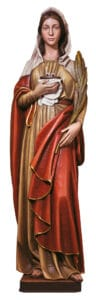 religious figures, religious statues, st lucy statue