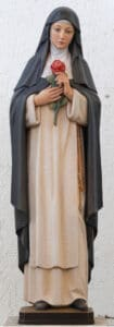 religious figures, religious statues, st rose of lima statue