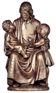 religious figures, religious statues, christ with children
