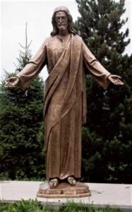 religious figures, religious statues, welcoming christ