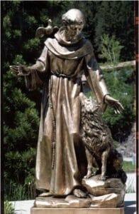 religious figures, bronze statues, bronze religious statues