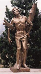 religious figures, religious statues, st. sebastian
