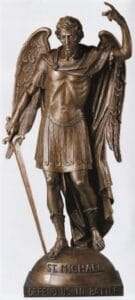 religious figures, religious statues, st. michael